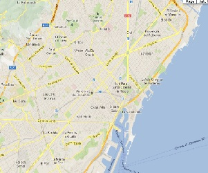 Codigos Postales De Barcelona Plano Mapa Districtes